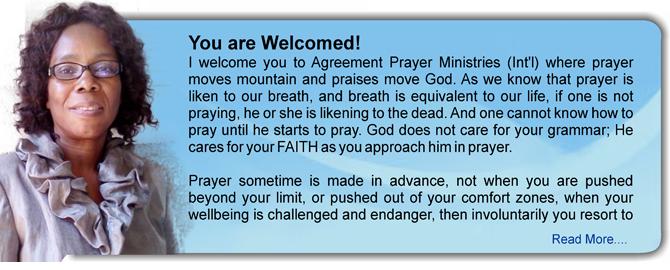 The Agreement Prayer Ministries Int L